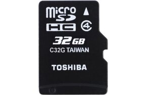 MEMORY CARD MICRO SD HC TOSHIBA 32GB